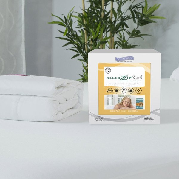 PROTECT A BED - AllerZip Smooth, Dust Mite & Bed Bug Proof Waterproof Mattress Protector
