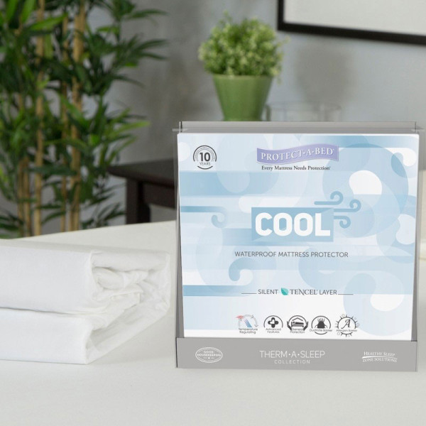 PROTECT A BED - Cool Moisture-Wicking Tencel Waterproof Mattress Protector