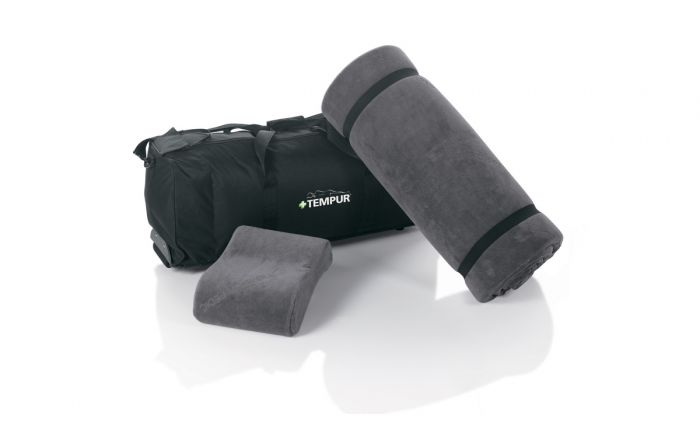 travelset by tempurpedic on the go mat and neck pillow